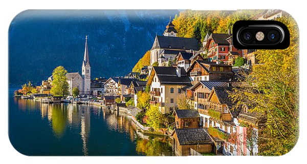 Hallstatt In Fall IPhone Case