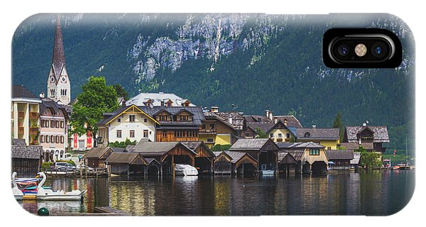 Hallstatt Lakeside Village In Austria IPhone Case