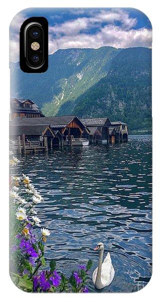 Hallstatt Swan IPhone Case