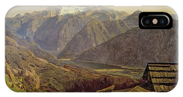 See iPhone Case - Hallstatter See by Ferdinand Georg Waldmuller