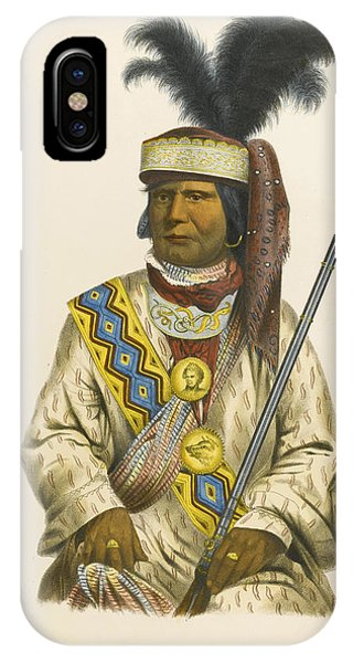 King Charles iPhone Case - Halpatter-micco Or Billy Bowlegs. A Seminole Chief by Charles Bird King