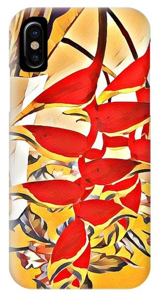 Halyconia Bouquet In Orange IPhone Case