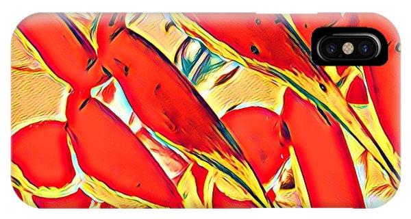 Halyconia Closeup In Orange IPhone Case