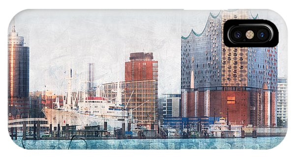 IPhone Case featuring the photograph Hamburg Abstract by Marc Huebner