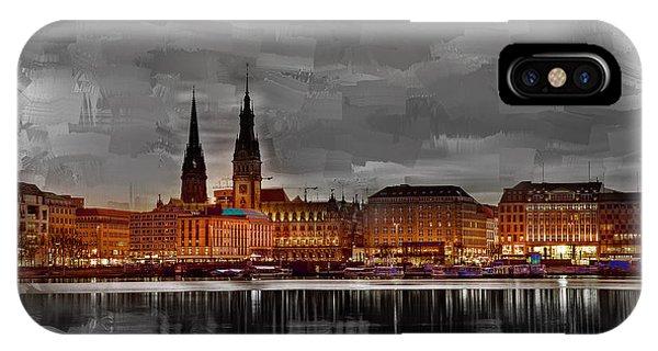 Hamburg Germany Skyline 01 IPhone Case