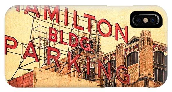 Hamilton Bldg Parking Sign IPhone Case