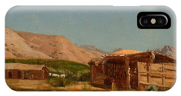 Jervis iPhone Case - Hamilton's Ranch Nevada  by Celestial Images