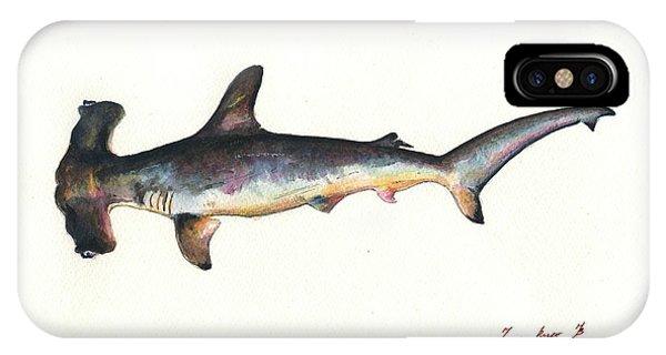 Hammerhead Shark iPhone Case - Hammerhead Shark by Juan Bosco