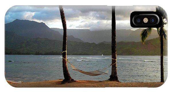 Hammock At Hanalei Bay IPhone Case