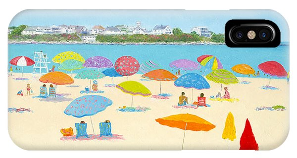 Hampton Beach Umbrellas IPhone Case