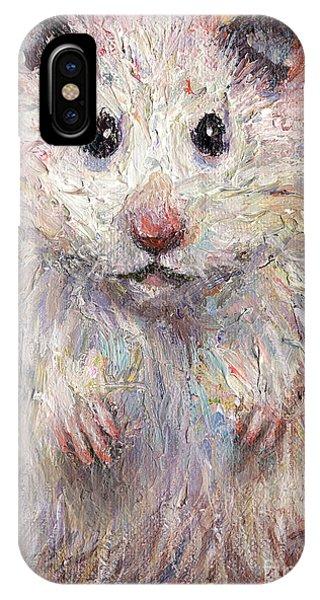 Hamster iPhone Case - Hamster Painting  by Svetlana Novikova
