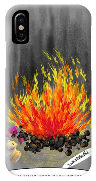 Hamster iPhone Case - Hamsters By A Fire by Lunakiri