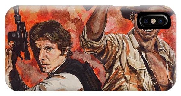Han Solo And Indiana Jones IPhone Case