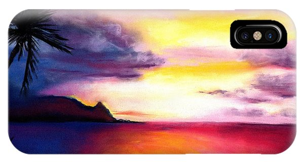 Hawaiian Sunset iPhone Case - Hanalei Sunset by Marionette Taboniar