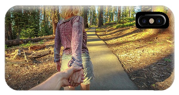 Hand In Hand Sequoia Hiking IPhone Case
