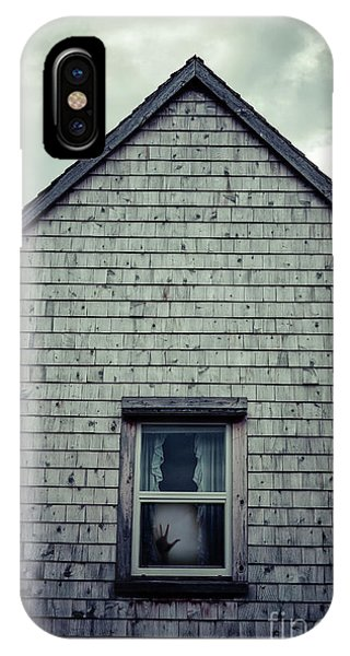 Houses iPhone Case - Hand In The Window by Edward Fielding