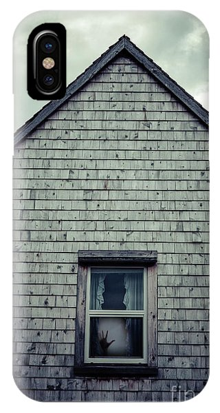 House iPhone Case - Hand In The Window by Edward Fielding