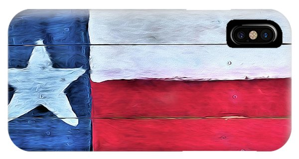 IPhone Case featuring the photograph Hand Painted Texas Flag by JC Findley