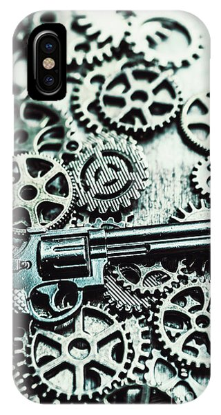 Nobody iPhone Case - Handguns And Gears by Jorgo Photography - Wall Art Gallery