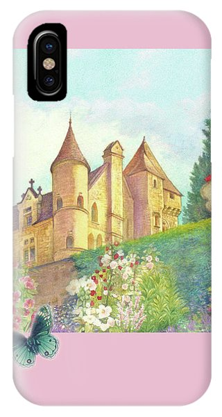 Handpainted Romantic Chateau Summer Garden IPhone Case