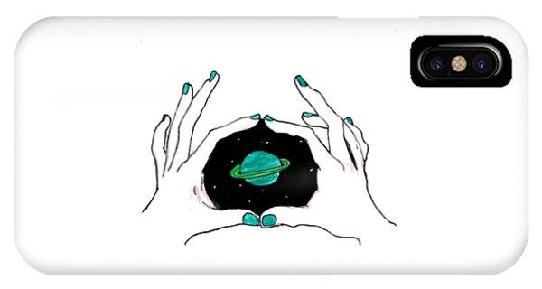 Hands Around Saturn IPhone Case