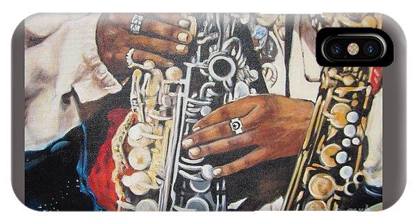 Blaa Kattproduksjoner        Hands Of Music - 2 IPhone Case