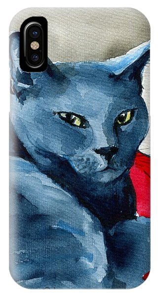 Handsome Russian Blue Cat IPhone Case