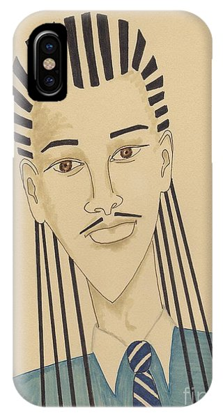 Handsome Young Man -- Stylized Portrait Of African-american Man IPhone Case