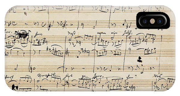 Handwritten Score For Herzliebster Jesu, Chorale Prelude Number 2 IPhone Case