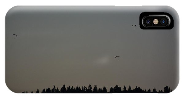 Hang Gliding At Dusk IPhone Case