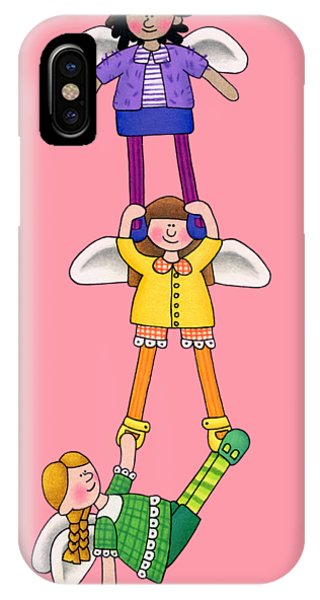 Girls In Pink iPhone Case - Hang In There by Sarah Batalka