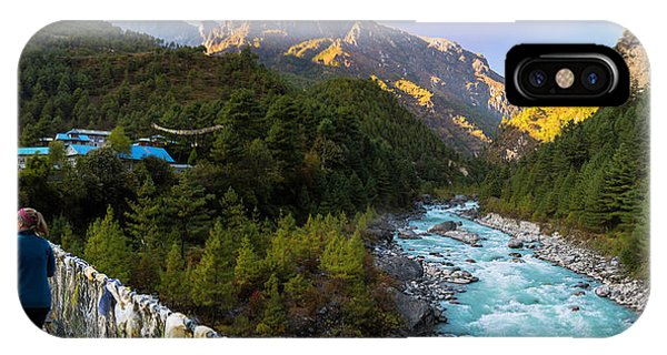 IPhone Case featuring the photograph Hanging Bridge Over The Dudh Kosi by Owen Weber