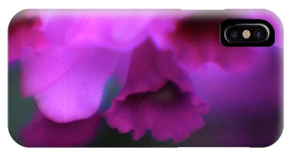 Hanging Purple Tropical Flowers Up Close- Kauai- Hawaii IPhone Case