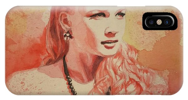 Hannah, Study In Red IPhone Case