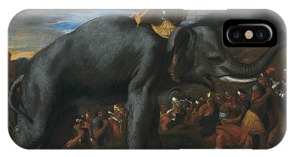 French Painter iPhone Case - Hannibal Crossing The Alps On Elephants by Nicolas Poussin