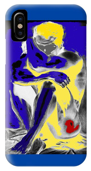Original Contemporary Painting A Handsome Nude Man IPhone Case