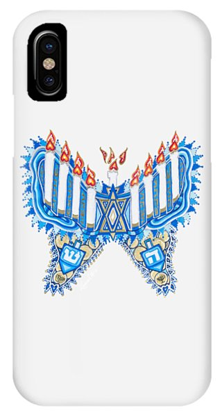 Hanukkah Butterfly IPhone Case