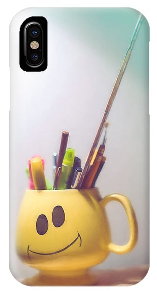 Pastel Pencil iPhone Case - Happiness Is by Scott Norris