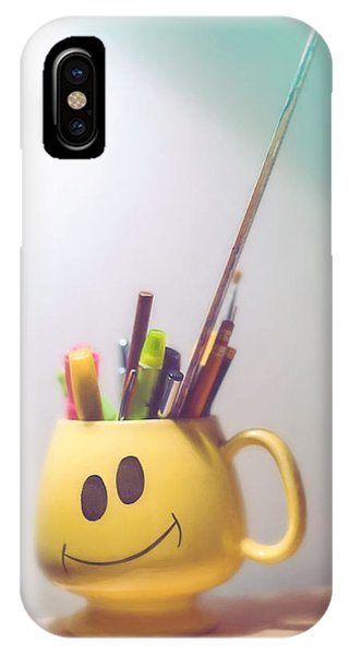 Color Pencil iPhone Case - Happiness Is by Scott Norris