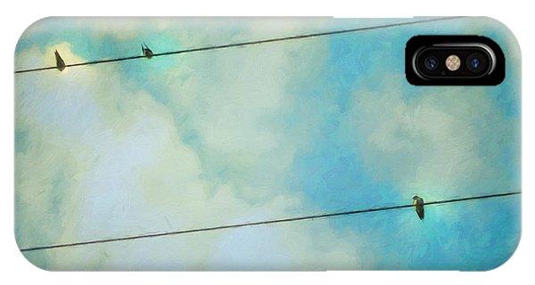 Swallow iPhone Case - Happiness by Priska Wettstein