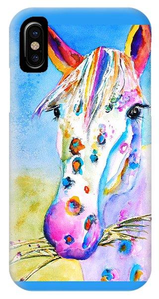 Watercolor Pet Portraits iPhone Case - Happy Appy by Carlin Blahnik CarlinArtWatercolor