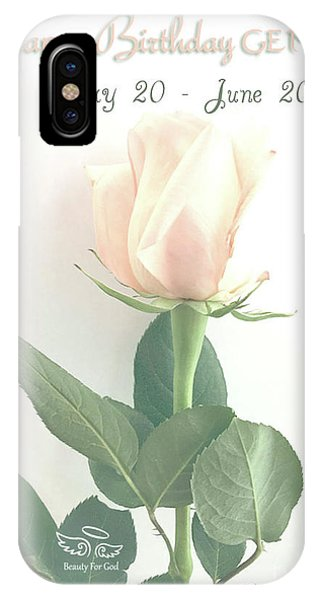IPhone Case featuring the photograph Happy Birthday Gemini by Beauty For God