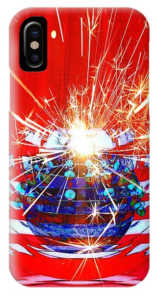 4th July iPhone Case - Happy Birthday U S A by Ellen Cannon