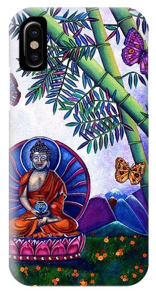 Happy Buddha And Prosperity Bamboo IPhone Case