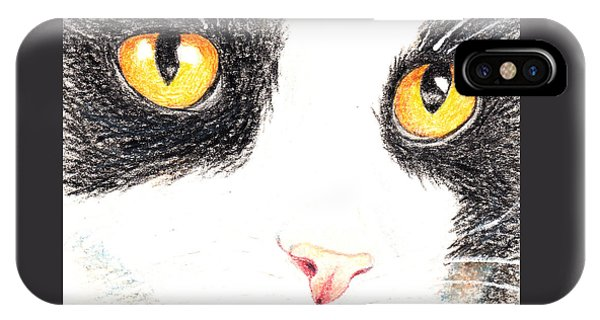 Happy Cat With The Golden Eyes IPhone Case