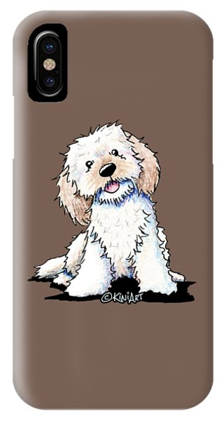 Happy Doodle Puppy IPhone Case