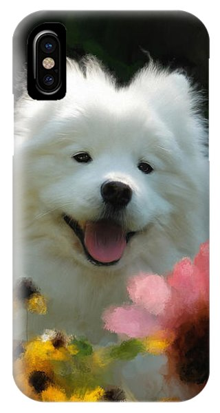 Happy Gal In The Garden IPhone Case