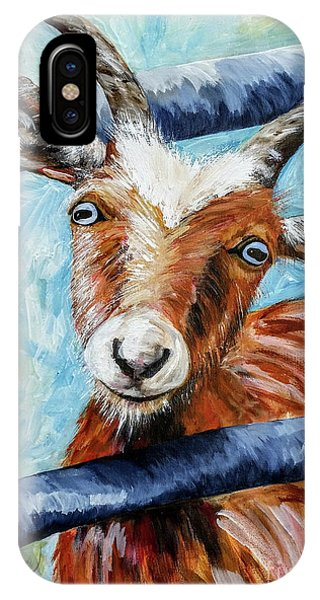 Wheeler Farm iPhone Case - Happy Goat by JoAnn Wheeler