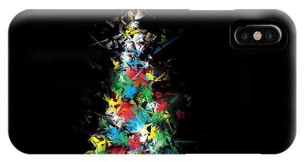 Happy Holidays - Abstract Tree - Horizontal IPhone Case