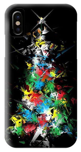 Happy Holidays - Abstract Tree - Vertical IPhone Case